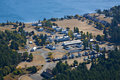Fort Worden State Park Aerial Royalty Free Stock Photo