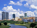 Fort Worth Skyline Stock Images