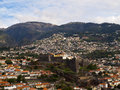 Fortaleza do pico funchal city and in the middle of the mountain Stock Images