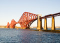 Forth bridge in scotland edinburgh a sunny day Royalty Free Stock Photo