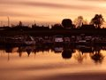 Forth clyde canal scotland sunset at the Stock Photography