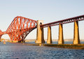 Forth rail bridge in edinburgh a sunny day Stock Photos