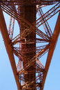 Forth rail bridge from south queensferry scotland in Royalty Free Stock Photos
