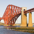 Forth Rail Bridge in square composition Stock Photos