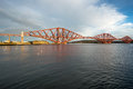 Forth railroad bridge late afternoon sun Stock Photo