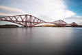 Forth railroad bridge late afternoon sun Royalty Free Stock Photography