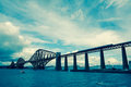 Forth railway bridge near edinburgh scotland Stock Photo