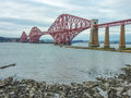The forth railway bridge scotland near edinburgh Stock Photo
