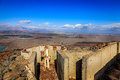 Fortifications on mount bental the border between israel and syria Royalty Free Stock Photography