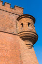 Fortifications surrounding wawel royal castle in krakow fragment of ancient poland Royalty Free Stock Image