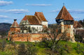 Fortified church of alma vii transylvania landmark in romania medieval scenery with churches rural was built th century by saxons Stock Photography