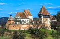 Fortified church of alma vii in transylvania romania rural was built in th century by saxons in gothic architecture style Royalty Free Stock Photo