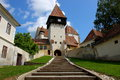 Fortified church of Bazna Royalty Free Stock Photo