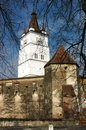 Fortified church of Harman, Transylvania, Romania Royalty Free Stock Photos