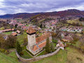 Fortified church in the traditional saxon village Malancrav, Tra Royalty Free Stock Photo