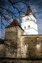 Fortified church in Transylvania Stock Images