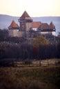 Fortified church in Viscri, Romania Royalty Free Stock Photo