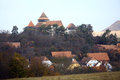 Fortified church in Viscri, Romania Royalty Free Stock Photo