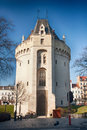 Fortified city gate of brussels halle gate Royalty Free Stock Photography