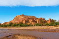 Fortified city with mud houses in the ait benhaddo ksar kasbah benhaddou near ouarzazate morocco Stock Photo