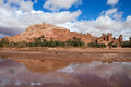 Fortified city with mud houses in the kasbah ksar ait benhaddou near ouarzazate morocco Royalty Free Stock Image
