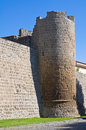 Fortified walls. Tuscania. Lazio. Italy. Royalty Free Stock Photography