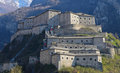 Fortress of bard aosta valley italy view Royalty Free Stock Photography