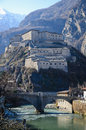 Fortress of bard aosta valley italy view Royalty Free Stock Photos