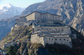 Fortress of bard aosta valley italy view Royalty Free Stock Photo