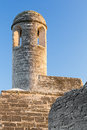 Fortress bell tower a tall stands on on corner of the castillo de san marcos a seventeenth century spanish fort in st augustine Stock Photography