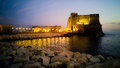 The fortress of castel dell ovo in naples bay Royalty Free Stock Photography