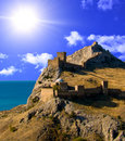 Fortress in Crimea Royalty Free Stock Photos