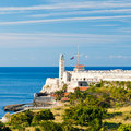 The fortress of El Morro in the bay of Havana Stock Photography