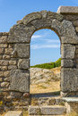 Fortress entrance to the ruins of an old Royalty Free Stock Photo