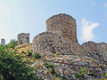 Fortress in feodosiya ruins of the genoese feodosia crimea ukraine Stock Image