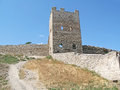 Fortress in feodosiya ruins of the genoese feodosia crimea ukraine Royalty Free Stock Image