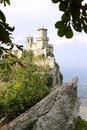 Fortress of Guaita in the city of San Marino Stock Images