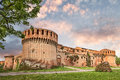 Fortress of imola ancient castle at sunset famous old italian medieval landmark in emilia romagna italy Stock Photo