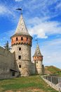 Fortress in kamyanets podilskiy ukraine towers Stock Images