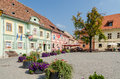Fortress main square sighisoara romania august the on august in sighisoara romania sighisoara is considered the most beautiful and Royalty Free Stock Image