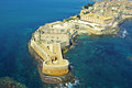 Fortress maniace aerial view of syracuse sicily Royalty Free Stock Photo