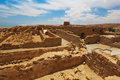 Fortress masada israel ruins of Royalty Free Stock Image