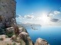 Fortress near sea Royalty Free Stock Photo