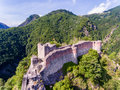 Fortress Poenari in Transylvania, one of the castles of Vlad the Royalty Free Stock Photo