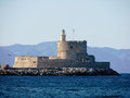 Fortress of Saint Nicholas Rhodes Royalty Free Stock Photo