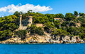 Fortress on the sea ancient in lloret de mar spain Stock Photography