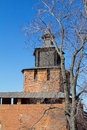 Fortress tower view of the of the kremlin of nizhny novgorod in the early spring Stock Images