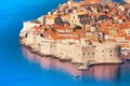 Fortress and wall of dubrovnik old town Stock Photography