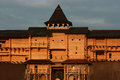Fortress walls wooden fortifications in ancient russia the Stock Photography