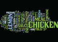Fortunate Lemon Chicken Text Background Word Cloud Concept Royalty Free Stock Photo